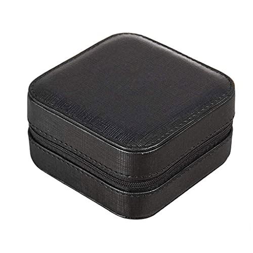 SHUMEISHOUT Caja de joyería - Caja de joyería Caja de joyería de Piel sintética Varios Compartimentos con Espejo para Anillos Pendientes Collar Pulseras