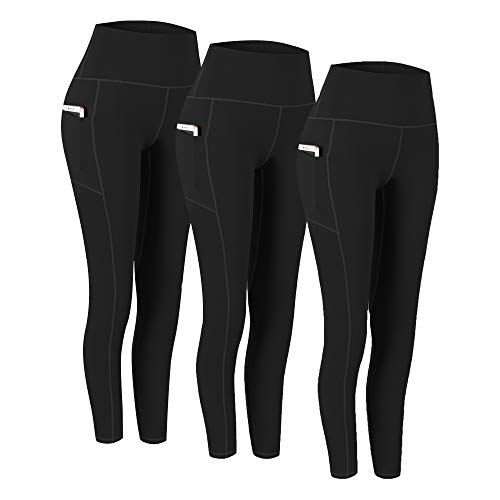 Fengbay 3 Pack High Waist Yoga Pants,Yoga Pants for Women Tummy Control Workout Pants 4 Way Stretch Leggings with Pockets