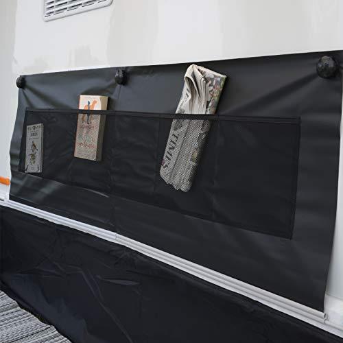 Radabdeckung Rad Schutz Hülle Wohnwagen Wohnmobil Anhänger Reifenabdeckung Wohnwagenschürze Hängeregal Vorzelt Universal Organizer Hänge Aufbewahrung Tasche Outdoor Camping Möbel Zubehör Schwarz