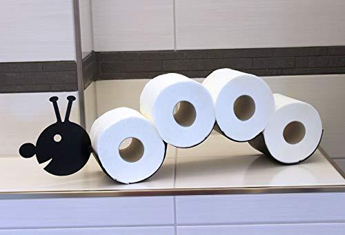 DanDiBo Toilettenpapierhalter Raupe aus Metall Ersatzrollenhalter Toilettenrollenhalter Papierhalter Rollenhalter Wandmontage