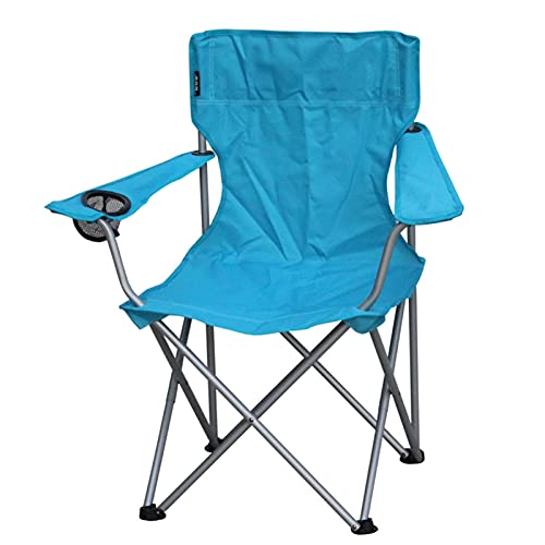 MJJCY Rodamiento 120kgs al Aire Libre Ocio Plegable Plegable sillón Grande Pesca sillón sillón Salvaje Camping Pesca/Silla de Playa Silla fácil Llevar (Color : Sky Blue)