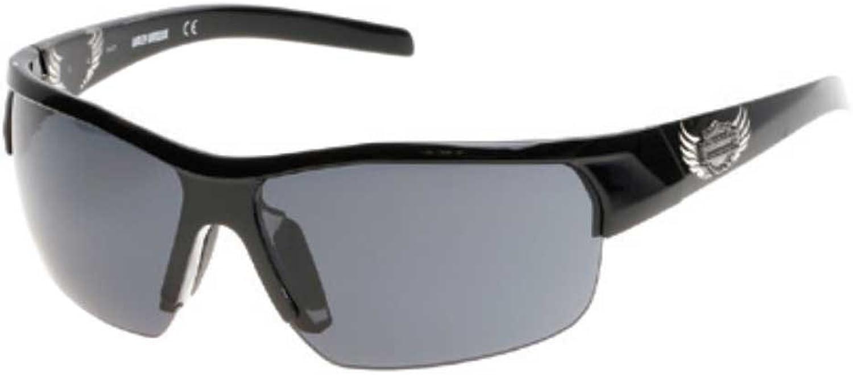 HarleyDavidson Women's Winged B&S Sunglasses, Shiny Black Frame & Smoke Lens