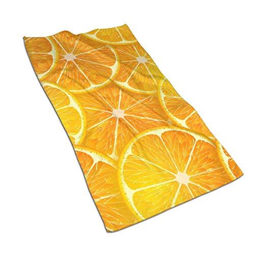 Hdadwy Toallas de mano de dibujos animados lindo naranja limón 27.5 'X15.7' 'Toalla facial multiusos ultra suave altamente absorbente para baño, hotel, gimnasio, spa, yoga, cocina, decoración del hoga