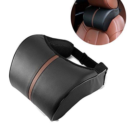 ABEDOE Kopfstütze Kissen, Nackenkissen für Auto PU Leder Pad Atmungsaktive Stuhl Kissen mit Memory Foam Design für Hals Schmerzlinderung