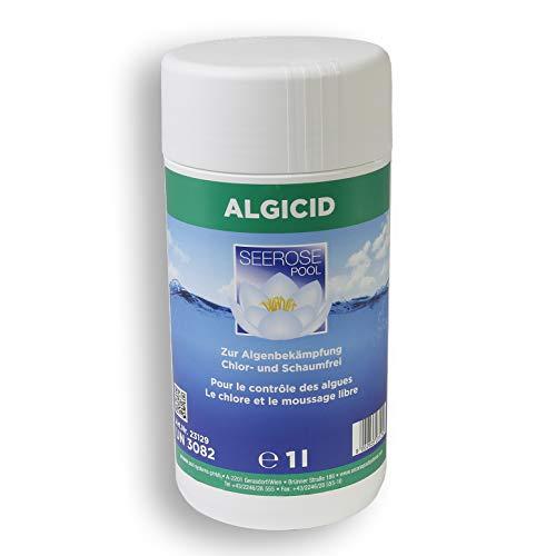 Paradies Pool GmbH Seerose Algizid 1l Algicid Konzentrat Algenschutzmittel chlor- und schaumfrei