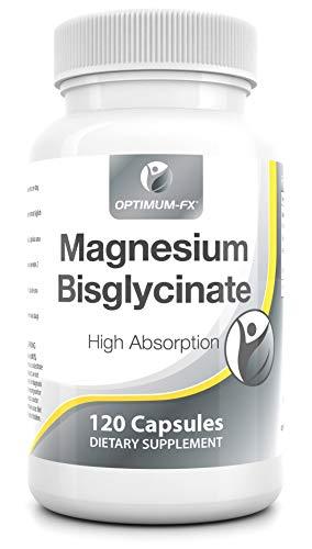 Magnesium Bis-glycine Capsules Geen Tabletten Biologisch Beschikbaar Mineraal Supplement Makkelijk in te Nemen Magnesium Heeft 10 Tien EU Goedgekeurde Gezondheidsclaims 280mg x 120 Veganistische Caps