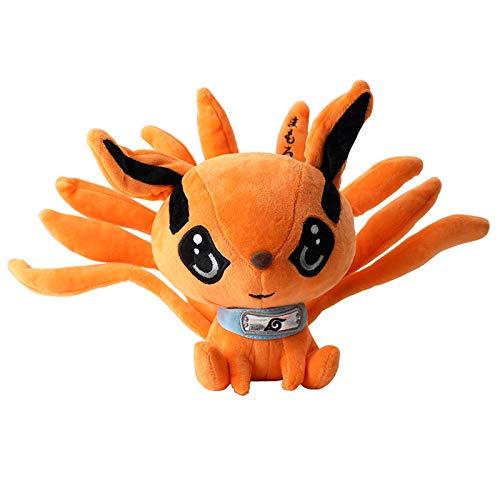 Kurama Peluche Muñeca de dibujos animados juguete lindo suave Kyuubi Fox Muñeca de peluche para niños Regalo de cumpleaños 25 cm