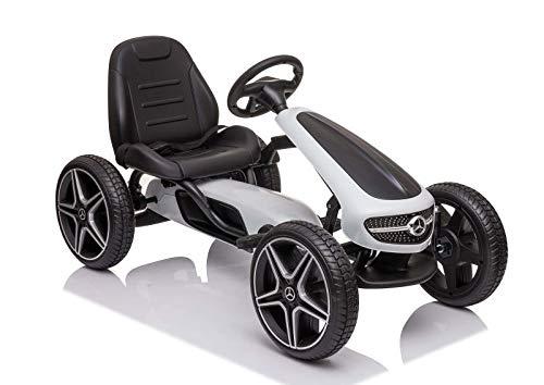 COIL Macchina a Pedali per Bambini XMX 610 Mercedes Pedali per Auto Pedali per Auto Go-Kart per Bici da Corsa (White)