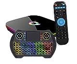 Sleekview Q PLUS Android 9.0 TV BOX 4GB RAM/32GB with Mutlicolour Keyboard ROM H6 Quad-Core TV Box 2.4Ghz WiFi/Ethernet 6K HDMI TV BOX