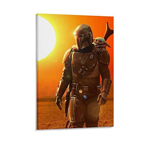 Art Prints - Marco de 40 x 60 cm, diseño mandaloriano de Star Wars