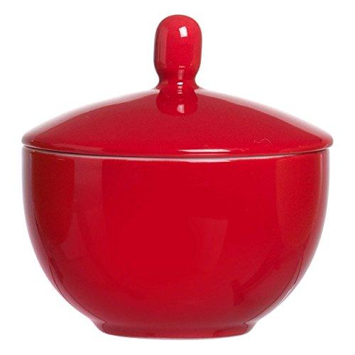 Ritzenhoff & Breker Doppio Zuckerdose, Zucker Dose, Vorratsdose, Geschirr, Porzellan, Rot, 9 cm, 517873