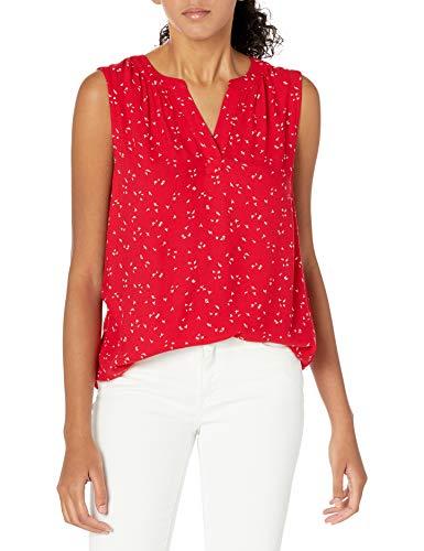 Amazon Essentials Camiseta sin Mangas Tejida Dress-Shirts, Hoja Roja, S