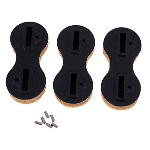 TOOGOO FCS Fin Box Aletas para Tablas de Surf Aletas de Surf FCS Tapones (3 Piezas) Negro 5 Grados
