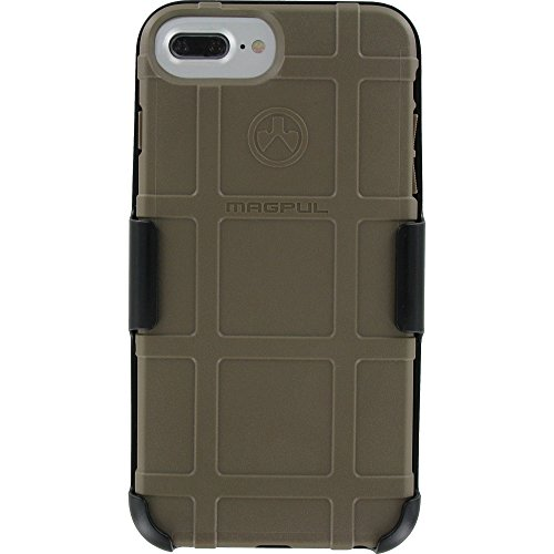 Magpul Industries Field Case Compatible with Apple iPhone 7 Plus 6 Plus & 6s Plus with Custom Modified Camera Hole by EGO Tactical (FDE Case w/Swivel Belt Clip Holster)