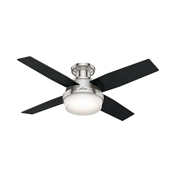Hunter Fan Company 59243 Hunter Dempsey Indoor Low Profile Ceiling Fan with LED Light...