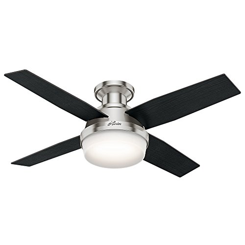 Hunter Indoor Low Profile Ceiling Fan with light and remote control - Dempsey 44...