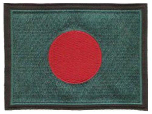 Bangladesch-Flagge gestickter Aufnäher 12cm x 9cm