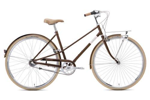 Creme Damen Citryrad Caferacer Solo 3 Gang, brown, Rahmenhöhe: 55 centimeters, Reifengröße: 28 Zoll (78 cm), BI-CRE-2204_22_55