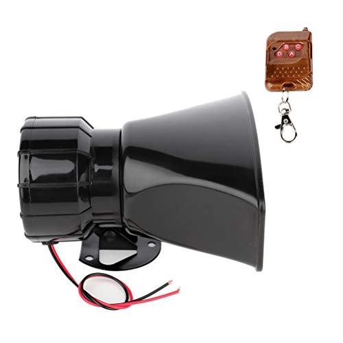 105 db Super Loud Car Warning Alarm Siren PA Speaker Horn System for Train, Electric Snail Single Horn,12v Waterproof Motorcycle for Trucks, Cars, Motorcycle, Bikes