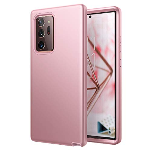 for Galaxy Note 20 Ultra Case, WeLoveCase Cover 3 in 1 Full Body Heavy Duty Protection Hybrid Shockproof TPU Bumper Protective Case for Samsung Galaxy Note 20 Ultra 6.9inch Rose Gold