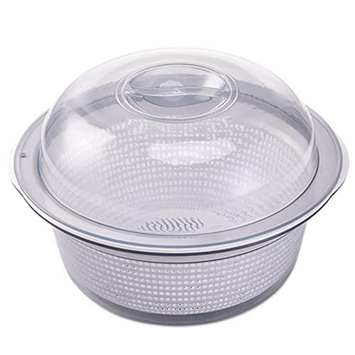 MIAOMIAOGI dubbele laag wasmand 3 stks/set keuken groenten afvoermanden huishoudelijke plastic fruit opslag mand, A
