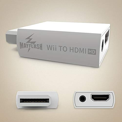 Photo of MAYFLASH Wii to HDMI Converter 1080P for Full HD Device, Wii HDMI Adapter with 3,5mm Audio Jack&HDMI Output Compatible with Nintendo Wii, Wii U, HDTV, Monitor-Supports All Wii Display Modes 720P, NTS