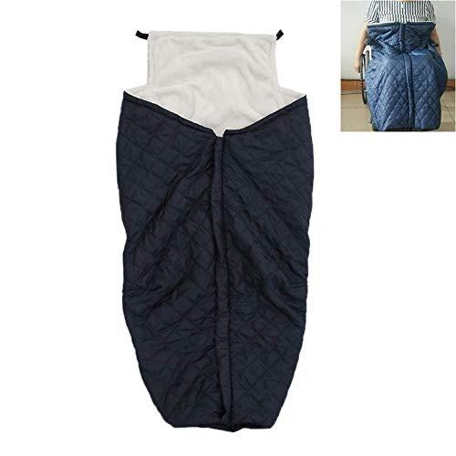 Leichtgewichtrollstuhl Decke für Beine/Füße, Zipper Rollstuhl-Wärmer-Abdeckung Decke für Lower Body, warme Fleece - Perfekt für jede Jahreszeit,Blau