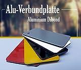 Plaque en aluminium DIBOND Blanc 3 mm, 100mmx600mm, Weiß, 1