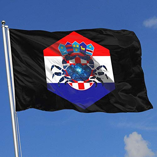 Zudrold Außenflaggen Krebs Kroatien Flagge für Sportfan Fußball Basketball Baseball Hockey