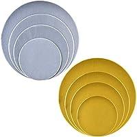Queta - Juego de 8 tablas para tartas (plata), color plateado y dorado
