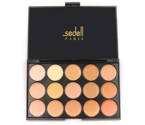 Sedell Professional 15 Colors Cream Concealer Camouflage Foundation Makeup Palette...