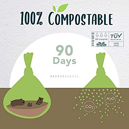 moonygreen Biodegradable Dog Poo Bags - Vegetable-Based, Home Compostable, Microplastic-Free, Unscented and Leak-Proof - 23 x 33 cm, Refill Pack of 120 6