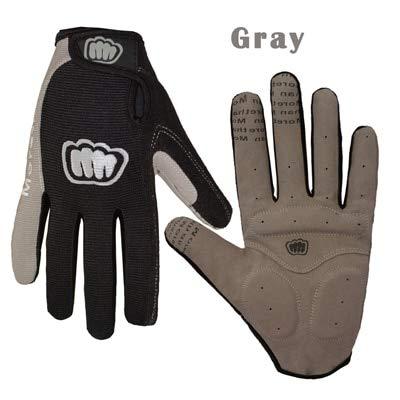 Berrd Women Men Winter Cycling Gloves Full Finger Bicycle Gloves Anti Slip Gel Pad Motorcycle MTB Road Bike Gloves M-XL Summer Gloves - Gray X L