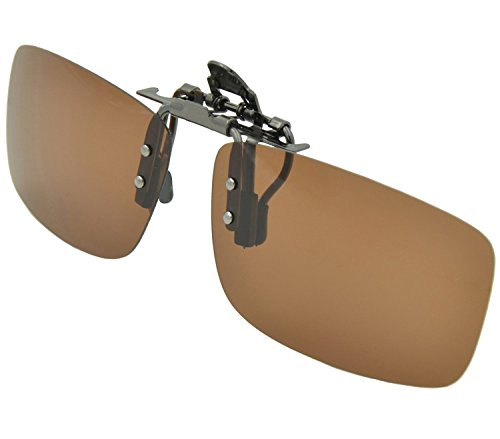 Buy Day Vision Polarized Brown Clip-on Flip-up Driving Sunglasses by ARM (Brown)
