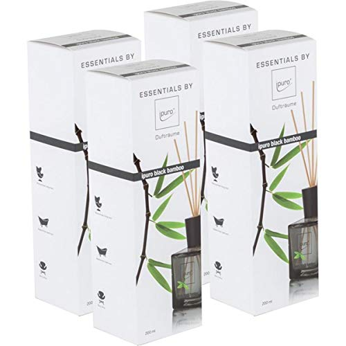Essentials by Ipuro Black Bamboo 200ml Durfträume (4er Pack)