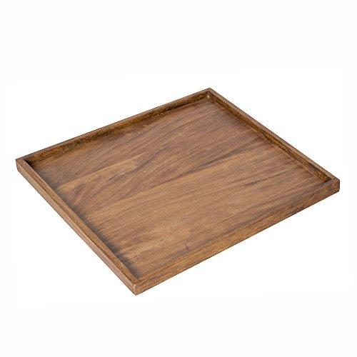 riess-ambiente.de Massives Tablett MAKASSAR 50cm Sheesham Stone Finish Holztablett Serviertablett Bettablett