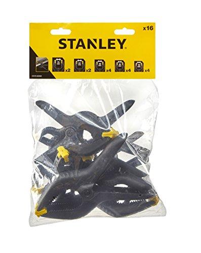 STANLEY - Juego de 16 abrazaderas de muelle