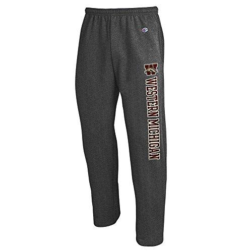Elite Fan Shop Western Michigan Broncos Sweatpants Pockets Charcoal - XL