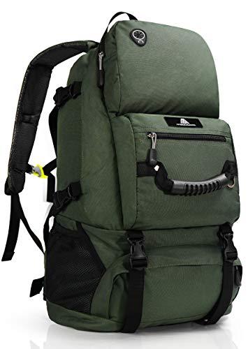 登山 リュック 40L 大容量 バックパック リュックサック 防水 軽量 山登り バック 多機能 キャンプ用リュック 防災バッグ キャンプ ハイキング 海外旅行に適用 (グリーン)