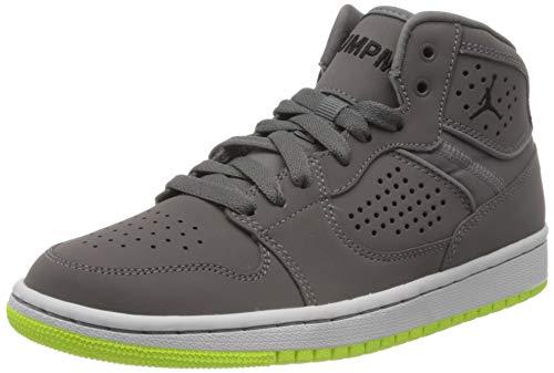 Nike Jungen Jordan Access (GS) Hohe Sneaker, Mehrfarbig (Gunsmoke/Black-Volt-White 002), 37.5 EU