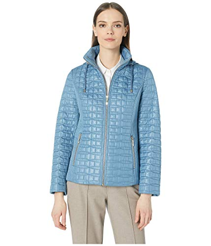 Kate Spade New York Womens Quilted Jacket Copen Blue MD (US 6-8)