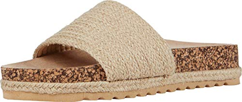 Dirty Laundry by Chinese Laundry Women's Flat Slide Sandal, Natural, 8
