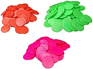 ZEONLY MART Plastic Plain Token/Coins Any Three Colours(Big Size: 37cm) 300 Coins