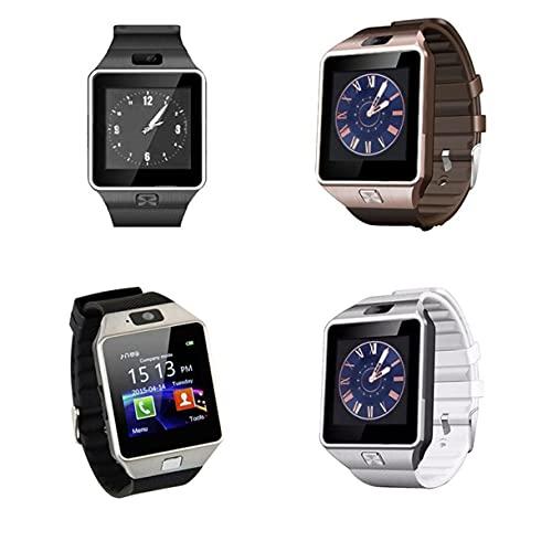 Reloj Inteligente con Pantalla táctil DZ09 con cámara Bluetooth Reloj de Pulsera Relogio Tarjeta SIM Reloj Inteligente para Xiaomi iPhone Samsung Hombres Mujeres (Blanco)