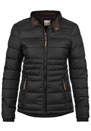 Blend SHE Cora Damen Übergangsjacke Steppjacke leichte Jacke gefüttert mit Stehkragen, Größe:L, Farbe:Black (70155)