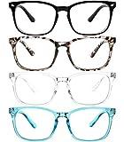 Yogo Vision Blue Light Blocking Glasses for Women & Men, Multi Pack - Anti-Glare Clear Blue Light Computer Glasses - Lightweight Blue Light Blocking Reading Glasses to Reduce Eyestrain & Eye Fatigue