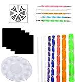 OOTSR 19 piezas juego de herramientas de pintura, herramientas de puntos de mandala para p...