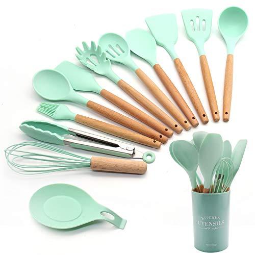 FXY Küchenutensilien-Set, BBQ-Werkzeug-Set, Kochutensilien (grün)