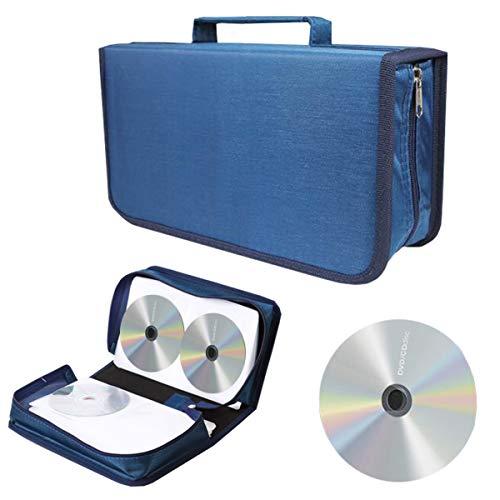 Liuer Porta CD,Porta CD di Archiviazione per DVD Rigido per 128 Dischi Borsa Porta CD/DVD Custodia Protettiva Portatile per Auto Ufficio Soggiorno e Casa
