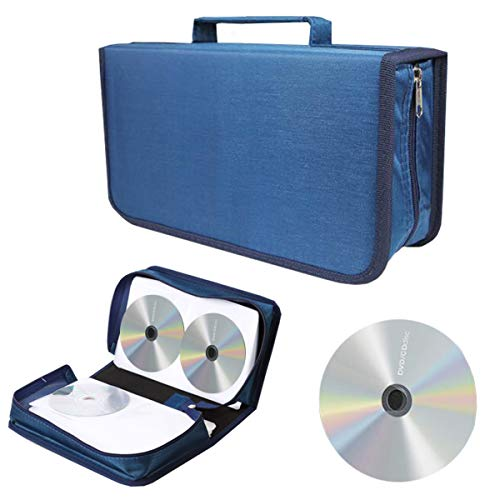 liuer Estuche Porta CD para CD/DVD/BLU-Rays de 128...